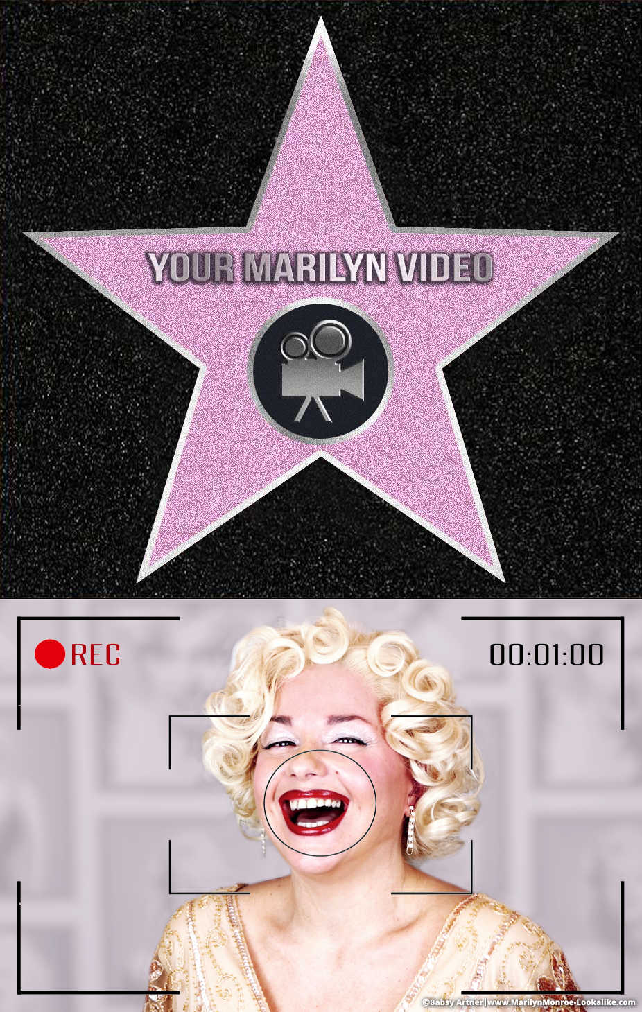Personalized video from Babsy Artner as Marilyn Monroe