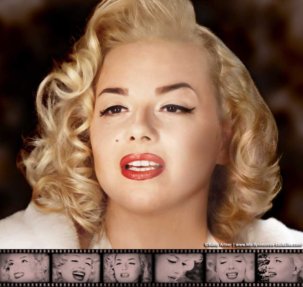 Babsy Artner as Marilyn Monroe - Official Website Banner